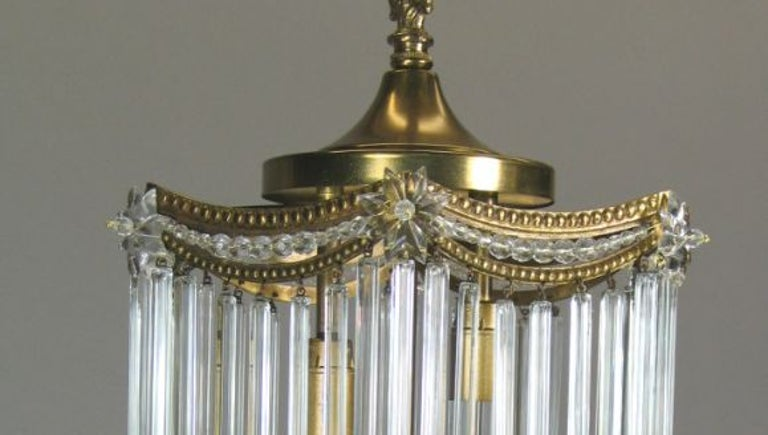 Austian Crystal Rods Pendant In Excellent Condition For Sale In Douglas Manor, NY