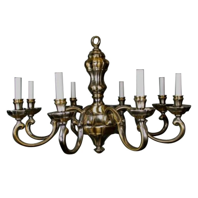 LIGHTING SALE UP TO 50% OFF SELECTED ITEMS   Brass and Nickel Chandelier For Sale