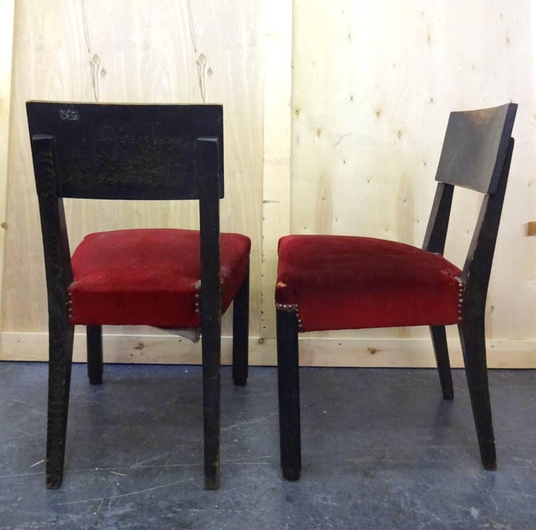 Chairs in original condition from the 1940s Located in Brooklyn.