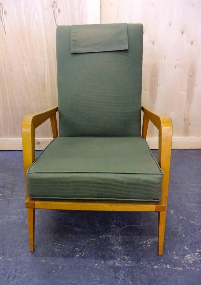 French Pair of Reclining Armchairs by Etienne Henri Martin For Sale