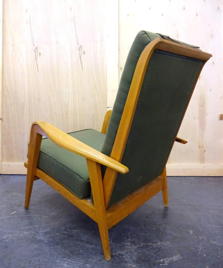 20th Century Pair of Reclining Armchairs by Etienne Henri Martin For Sale