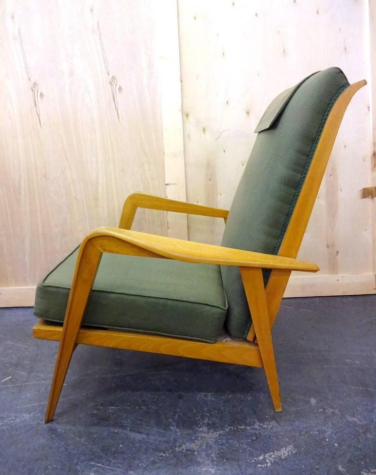 Pair of Reclining Armchairs by Etienne Henri Martin In Good Condition For Sale In Brooklyn, NY