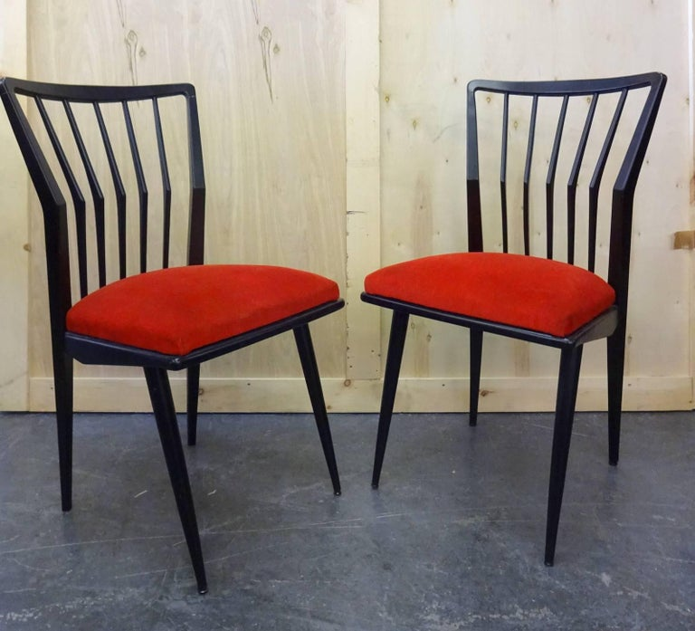20th Century Set of Four Italian Chairs  For Sale