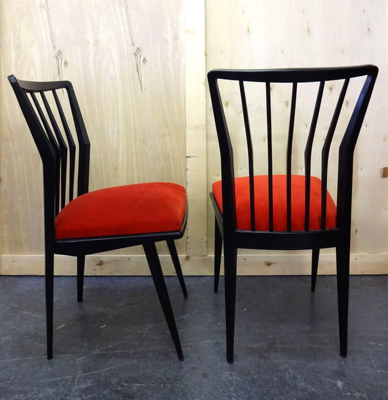 Set of Four Italian Chairs  In Good Condition For Sale In Brooklyn, NY