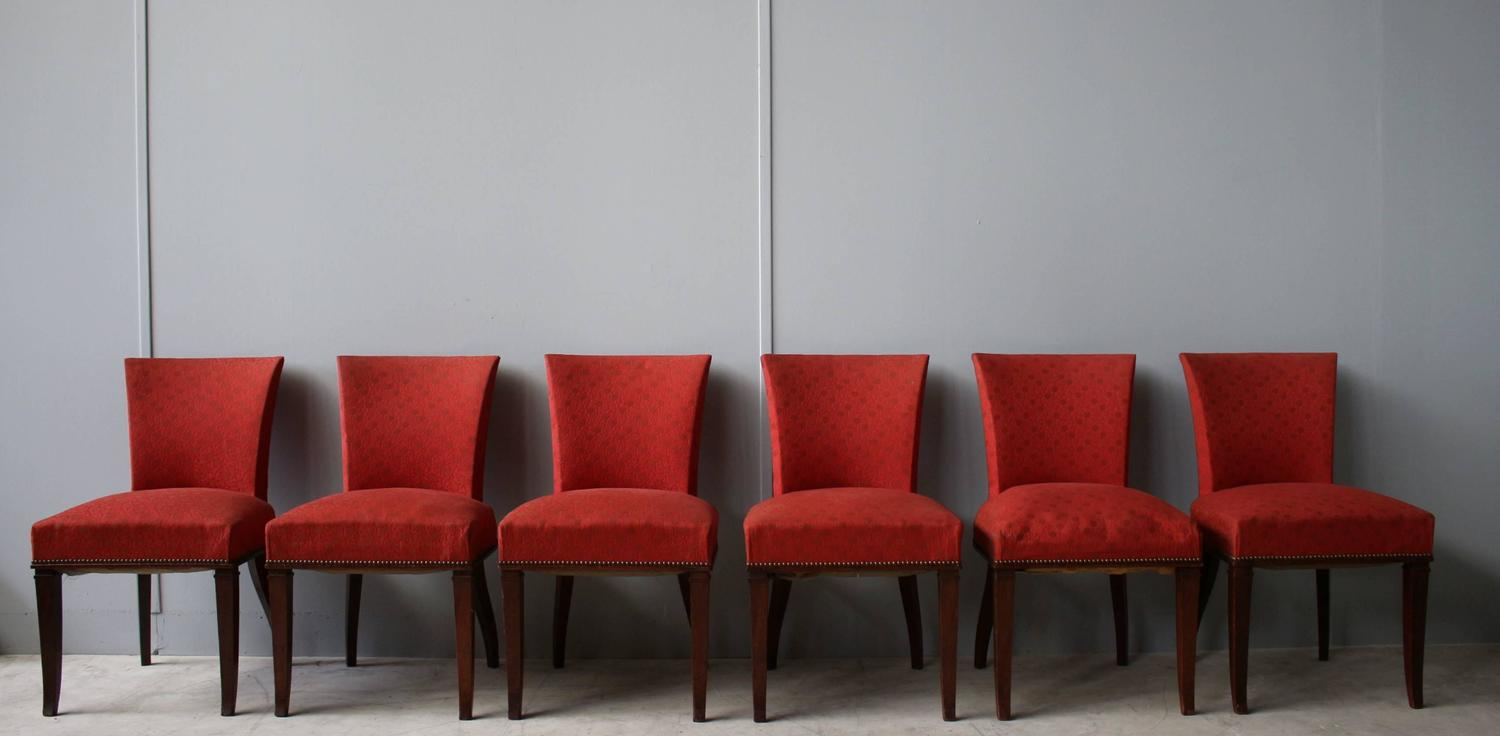 set of six deco rosewood chairs for sale