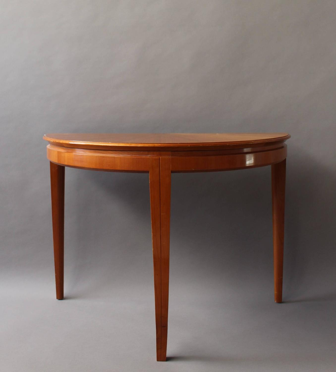 Fine Dining Room Tables: Fine French 1950s Cherry Round Table Divisible In Two Demilune Tables For Sale At 1stdibs