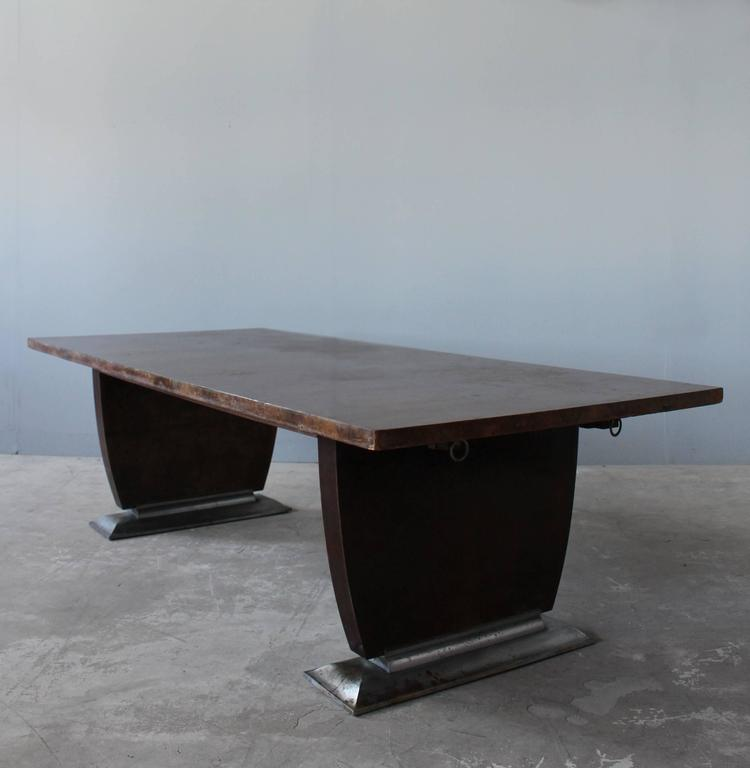 Early 20th Century A Fine French Art Deco Dining Table By Jules Leleu Matching Buffet