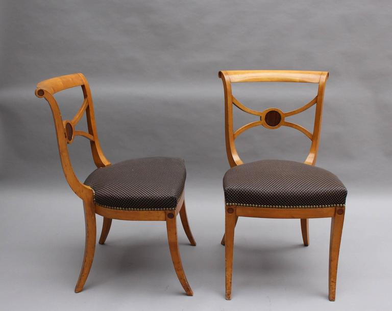 Neoclassical A Set of 14 Fine French Art Deco Chairs by Ernest Boiceau (12 side and 2 arm) For Sale