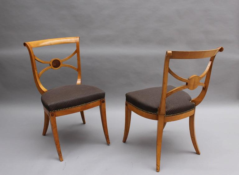 Sycamore A Set of 14 Fine French Art Deco Chairs by Ernest Boiceau (12 side and 2 arm) For Sale