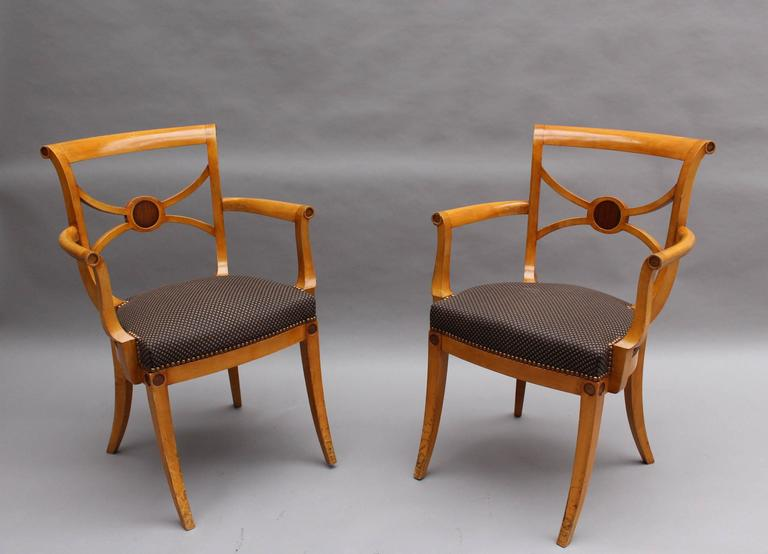 A Set of 14 Fine French Art Deco Chairs by Ernest Boiceau (12 side and 2 arm) In Fair Condition For Sale In Long Island City, NY