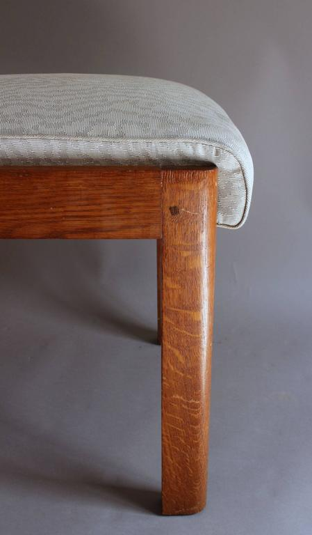 Set of Four Fine French Art Deco Oak Chairs by Charles Dudouyt For Sale 5