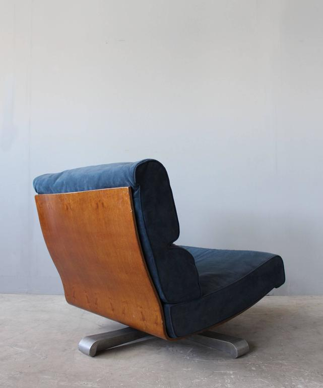4 French 1970s Swivel Lounge Chairs For Sale 3