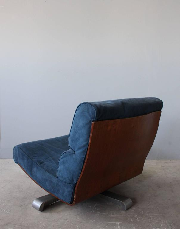 4 French 1970s Swivel Lounge Chairs For Sale 1