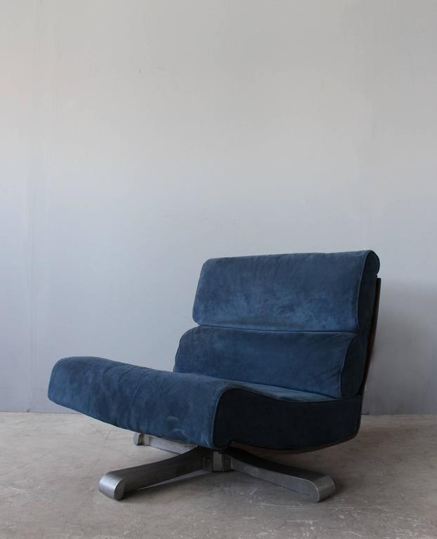 4 French 1970s Swivel Lounge Chairs In Good Condition For Sale In Long Island City, NY
