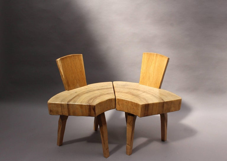 Wood Set of Four French 1950s Organic