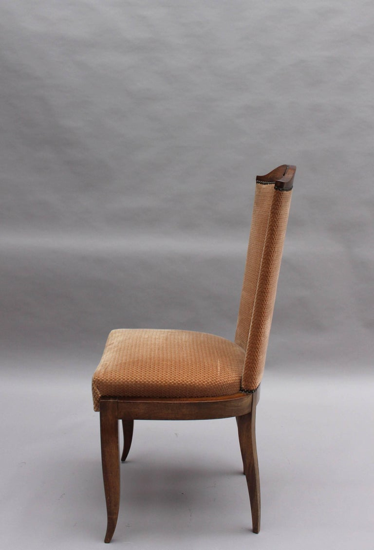 Mid-20th Century Set of Eight Fine French Art Deco Dining Chairs For Sale