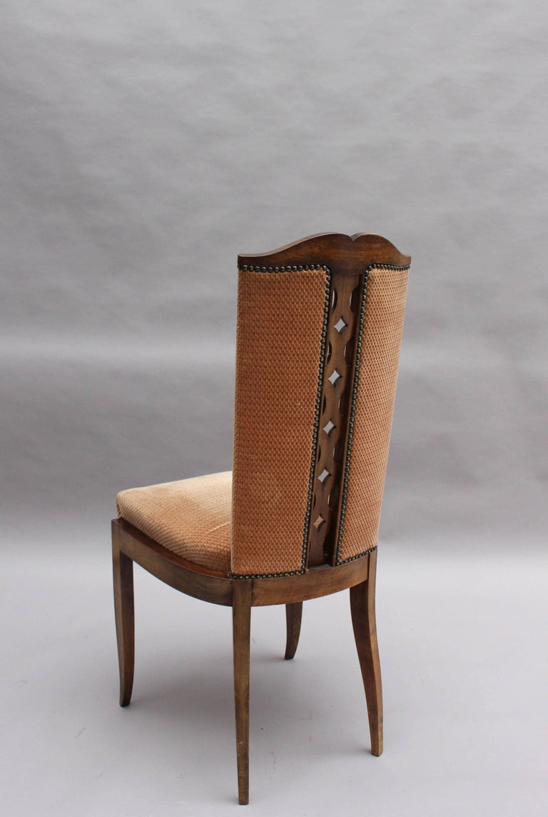 Set of Eight Fine French Art Deco Dining Chairs For Sale 1