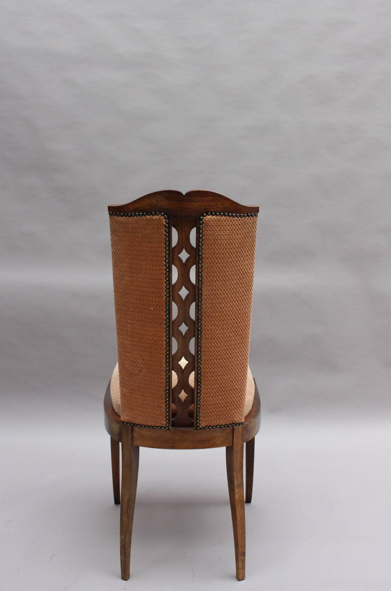 Set of Eight Fine French Art Deco Dining Chairs For Sale 2