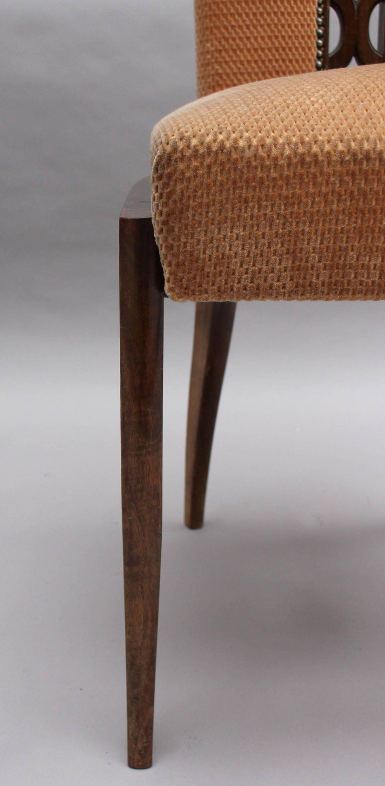 Set of Eight Fine French Art Deco Dining Chairs 8