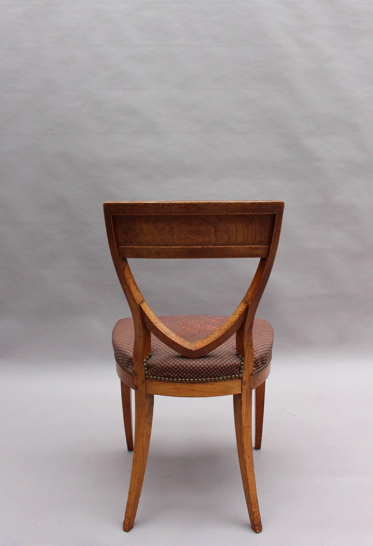 Set of Six French 1940s Neoclassical Dining Chairs For Sale 2