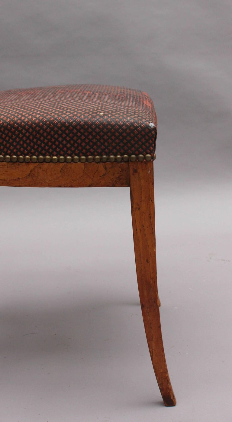 Set of Six Fine French 1940's Neoclassical Dining Chairs For Sale 3