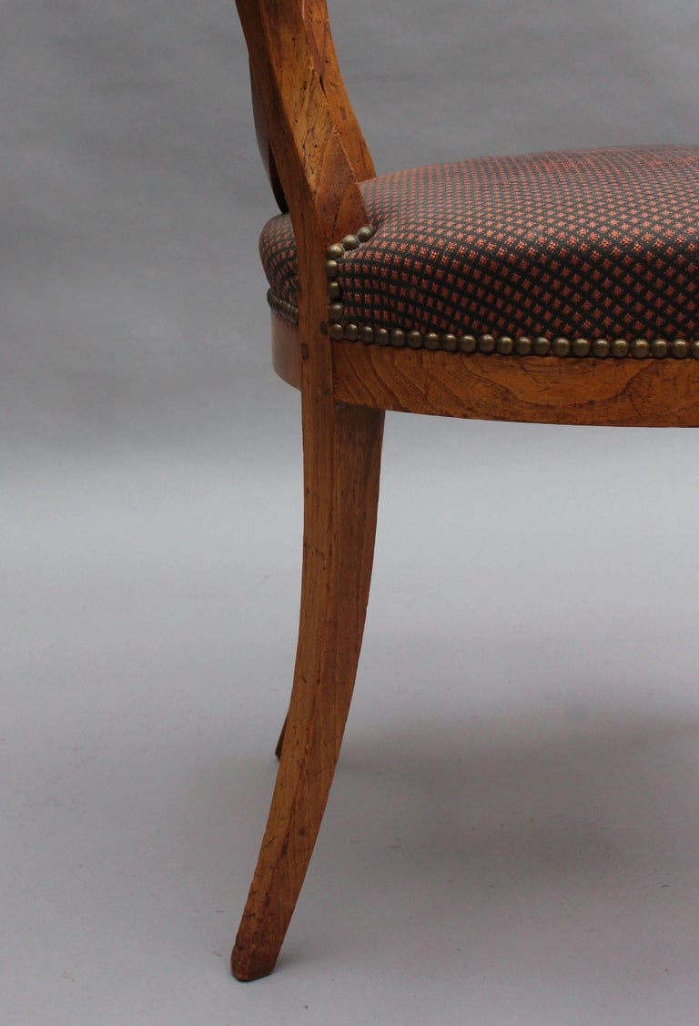 Set of Six French 1940s Neoclassical Dining Chairs For Sale 5
