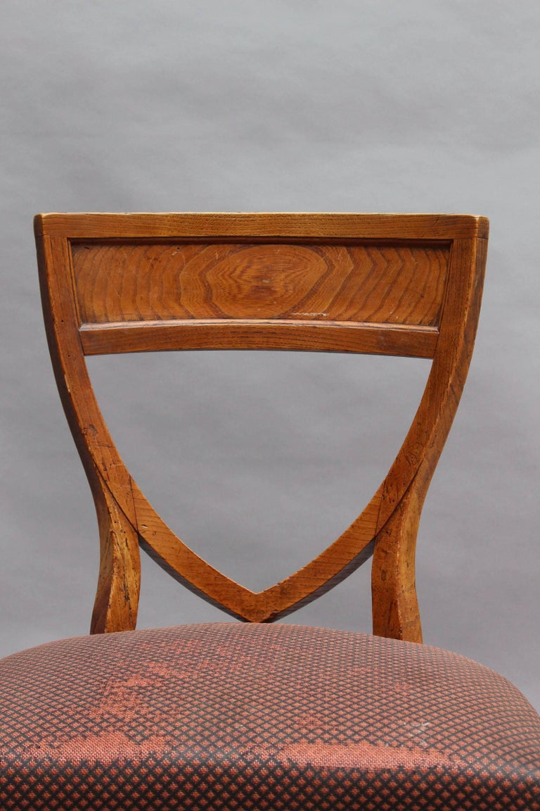 Set of Six French 1940s Neoclassical Dining Chairs For Sale 6