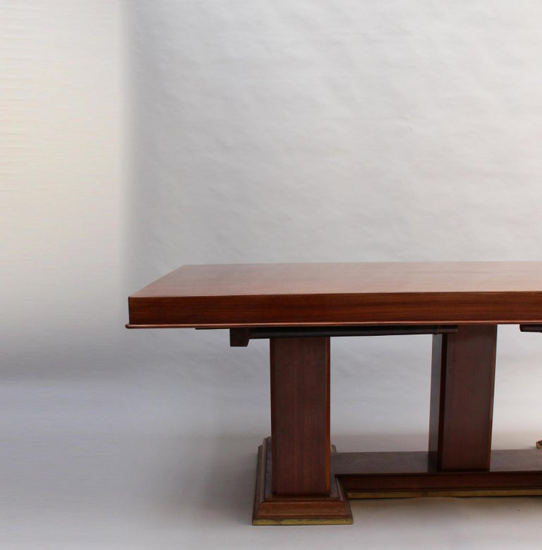 Fine French Art Deco Palisander Extendable Dining Table For Sale 4