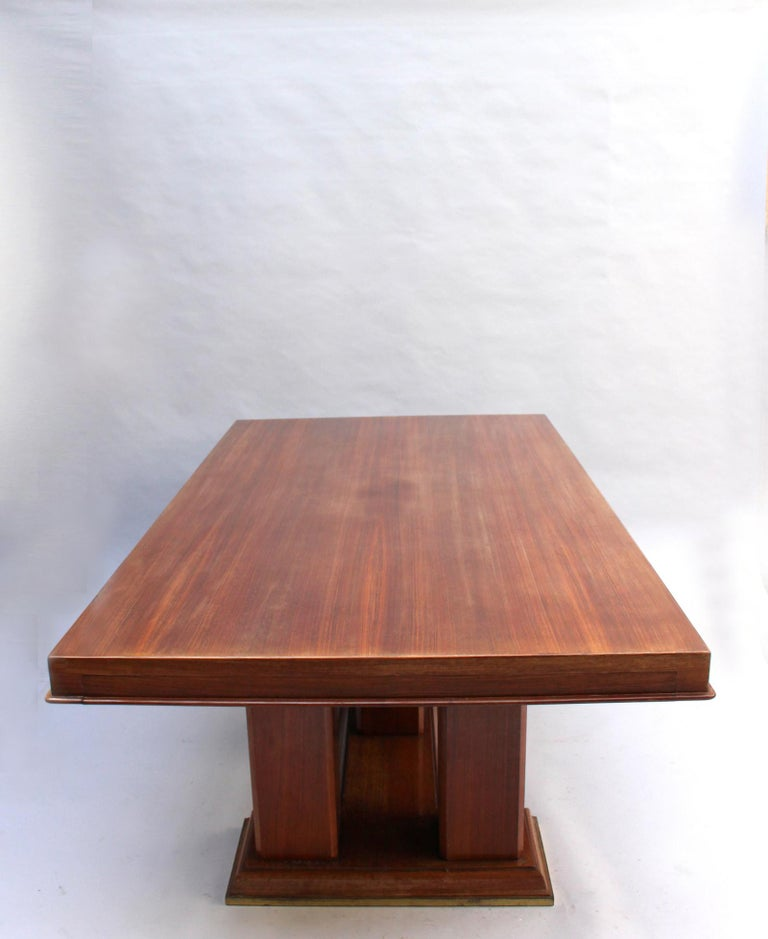 Fine French Art Deco Palisander Extendable Dining Table For Sale 2