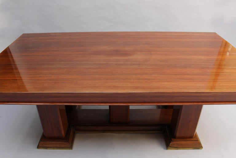 Fine French Art Deco Palisander Extendable Dining Table For Sale 3