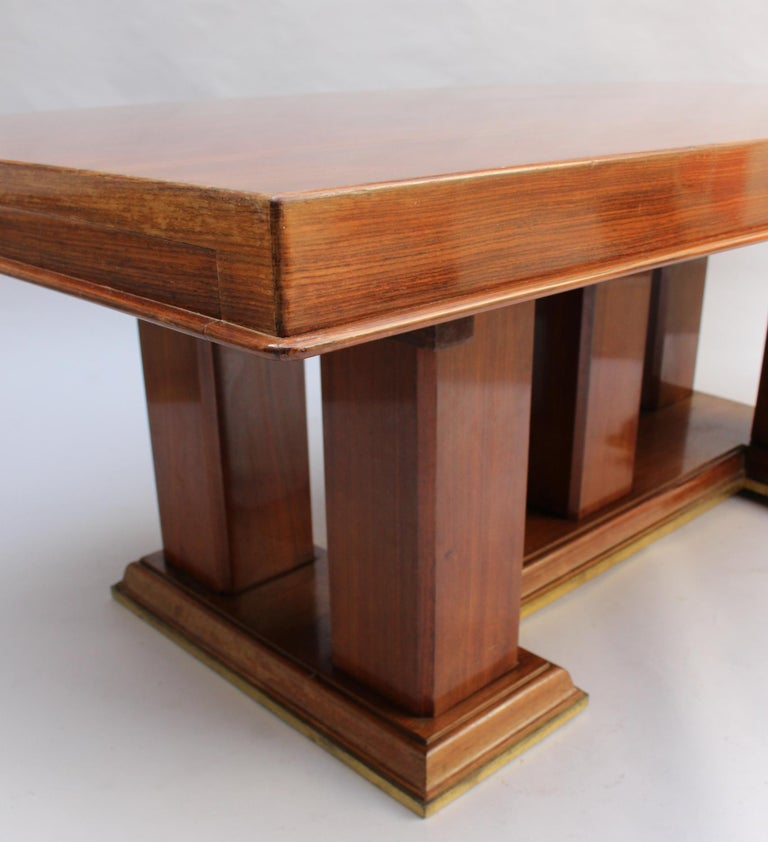 Fine French Art Deco Palisander Extendable Dining Table For Sale 6