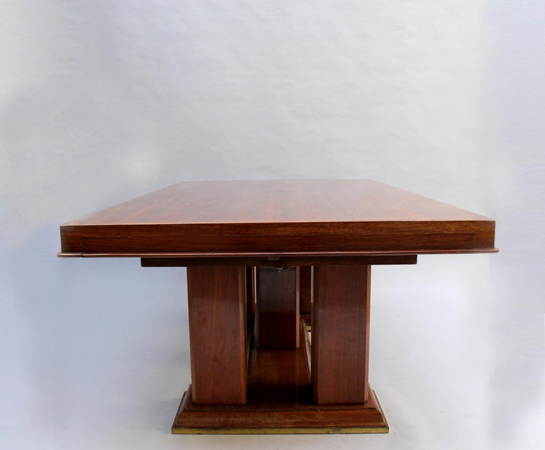 Fine French Art Deco Palisander Extendable Dining Table For Sale 1