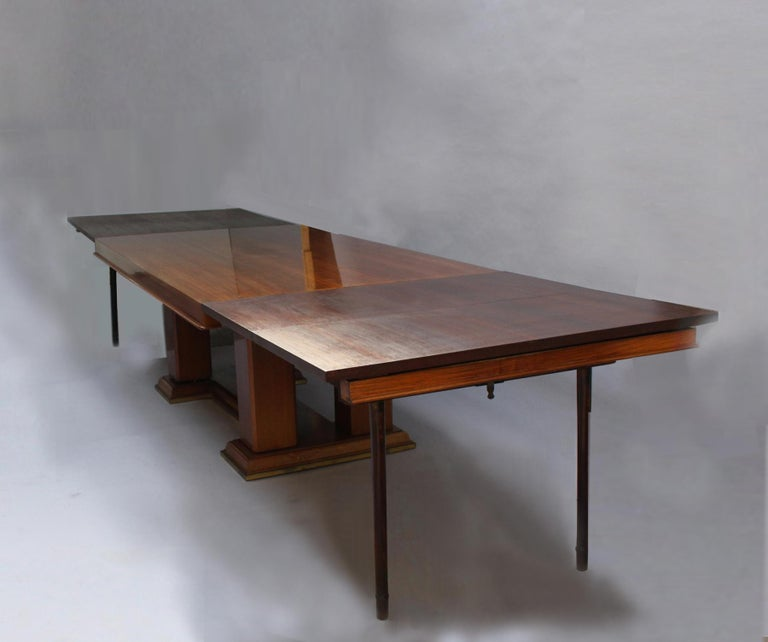 Fine French Art Deco Palisander Extendable Dining Table For Sale 7