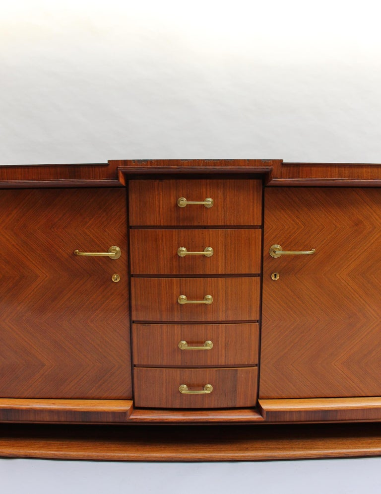 Fine French Art Deco Palisander Sideboard by Maxime Old For Sale 4