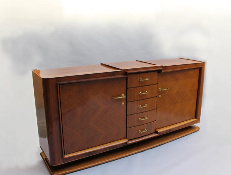 Mid-20th Century Fine French Art Deco Palisander Sideboard by Maxime Old For Sale