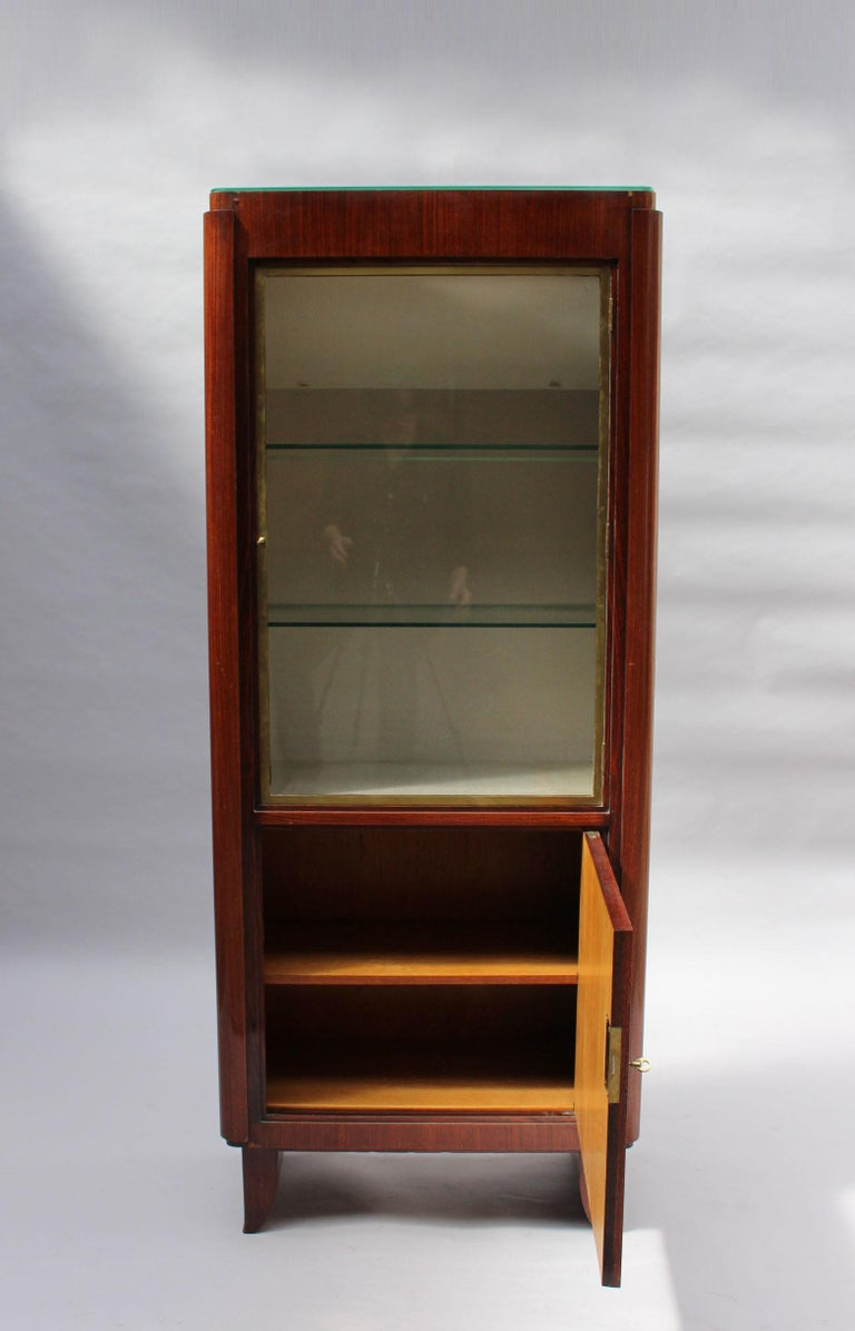 Fine French Art Deco Rosewood Vitrine by Maxime Old For Sale 2