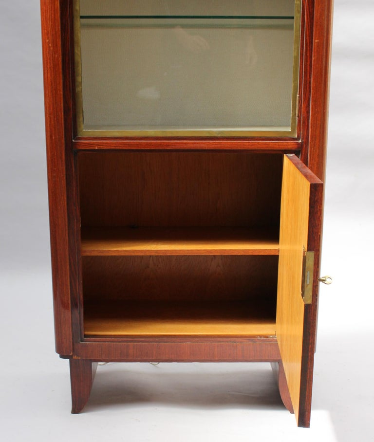 Fine French Art Deco Rosewood Vitrine by Maxime Old For Sale 3