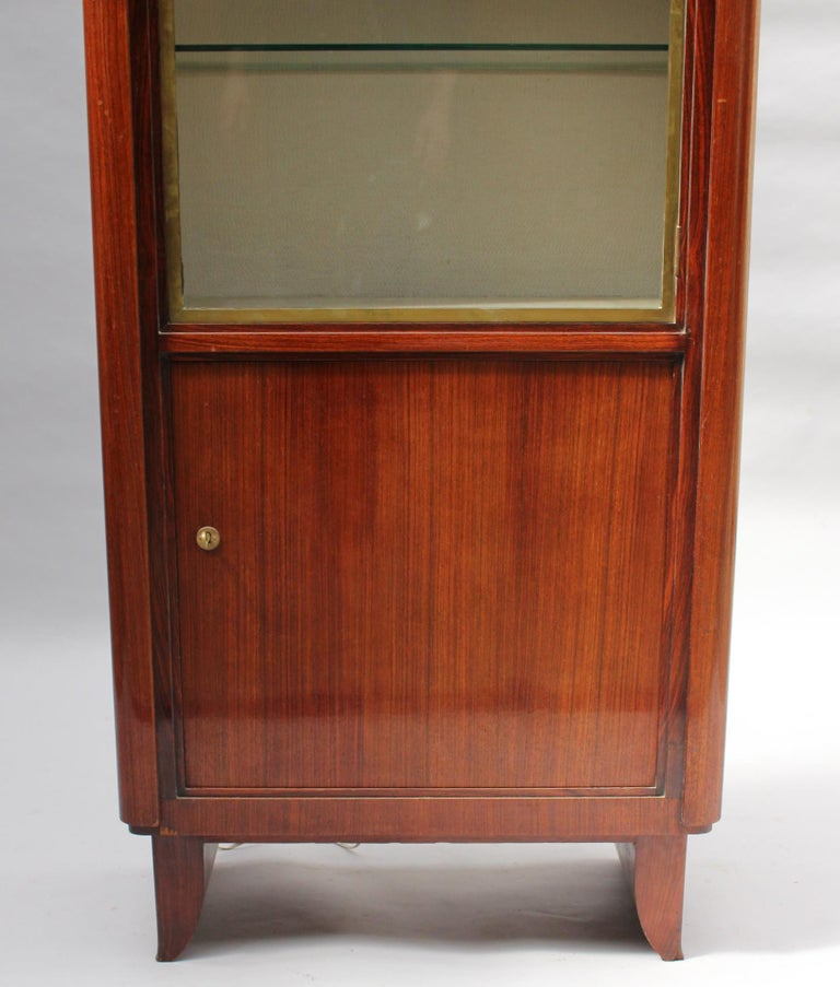 Fine French Art Deco Rosewood Vitrine by Maxime Old For Sale 1