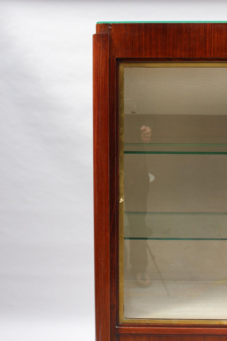Fine French Art Deco Rosewood Vitrine by Maxime Old For Sale 5