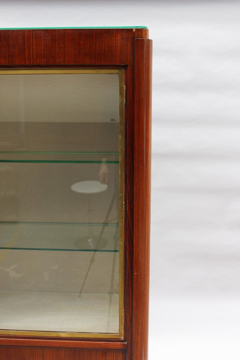 Fine French Art Deco Rosewood Vitrine by Maxime Old For Sale 6