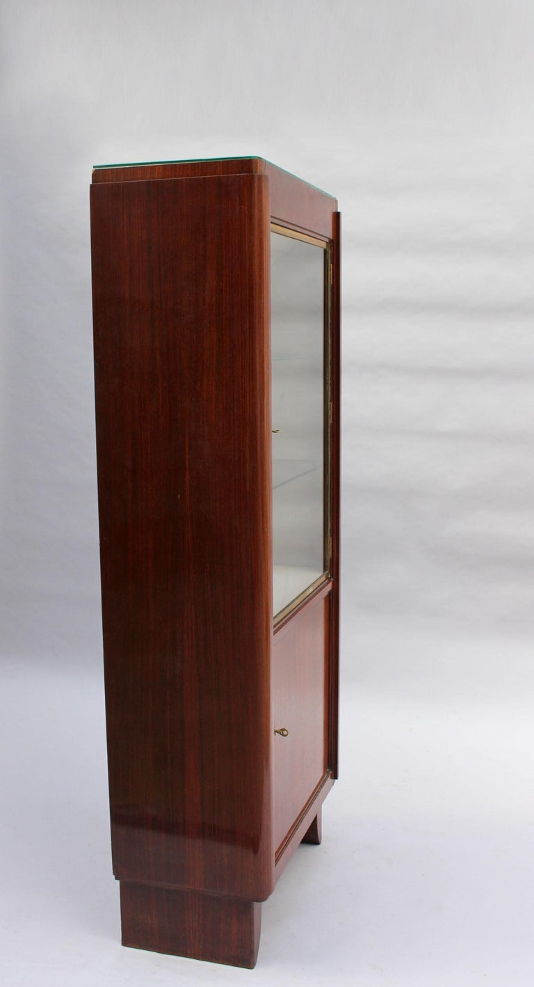 Mid-20th Century Fine French Art Deco Rosewood Vitrine by Maxime Old For Sale