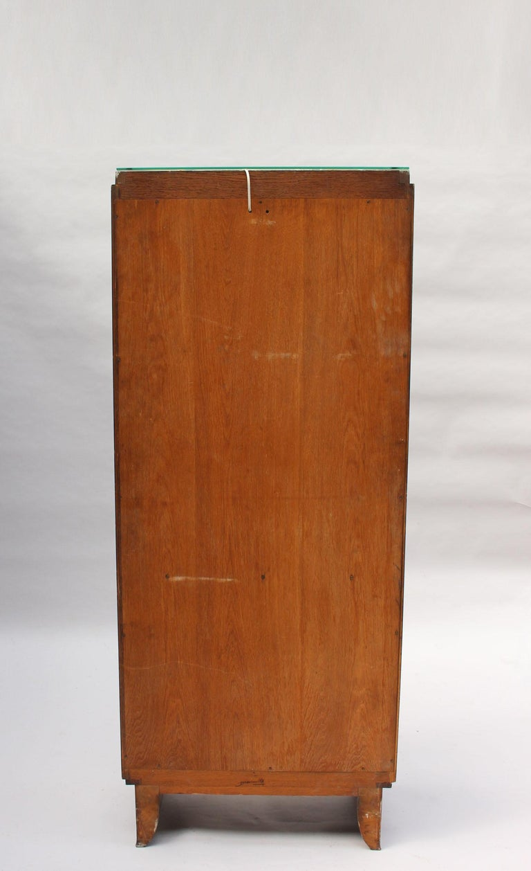 Fine French Art Deco Rosewood Vitrine by Maxime Old For Sale 8