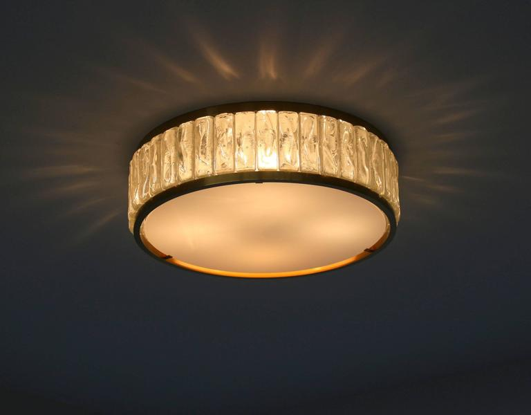 art deco ceiling light fixtures fine french art deco brass and glass flush mount by jean perzel