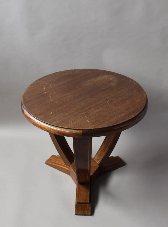 french art deco mahogany tripod gueridon for sale at 1stdibs. Black Bedroom Furniture Sets. Home Design Ideas