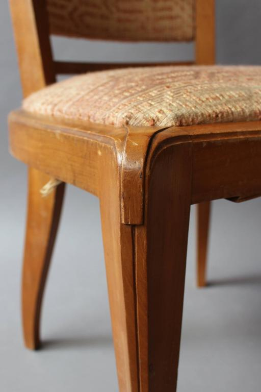 Set of 8 Fine French Art Deco Cherry Dining Chairs For Sale 6