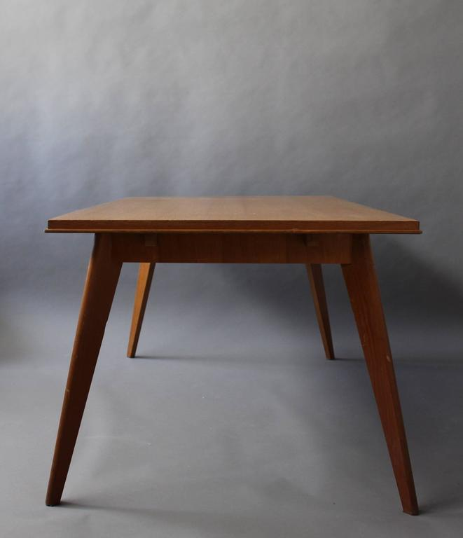 Mid-20th Century A Fine 1950s Compass Oak Table For Sale