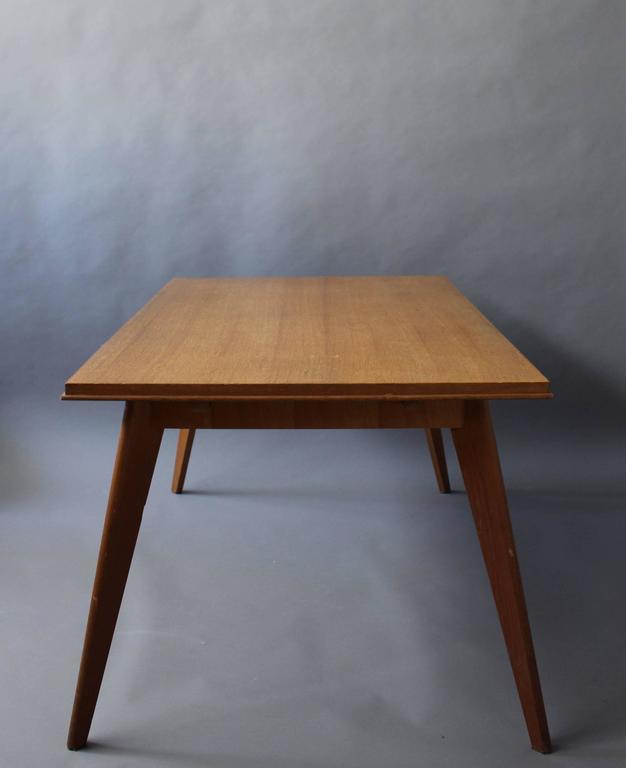 A Fine 1950s Compass Oak Table For Sale 1