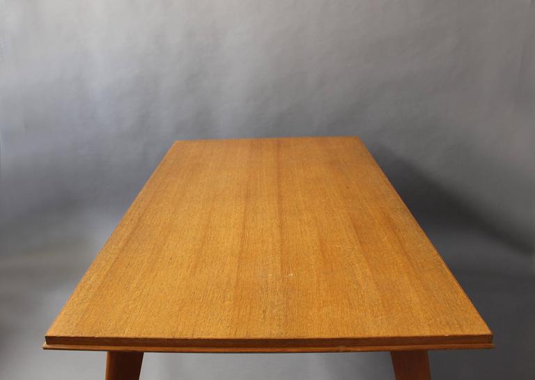 A Fine 1950s Compass Oak Table For Sale 2