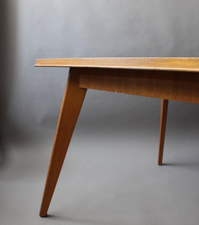 A Fine 1950s Compass Oak Table For Sale 4