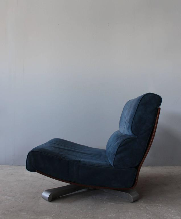 Late 20th Century 4 French 1970s Swivel Lounge Chairs For Sale
